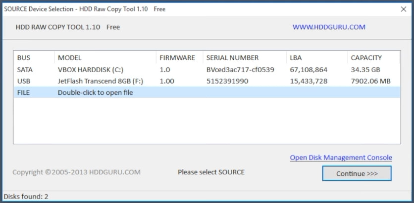 Процесс записи hive OS на флешку