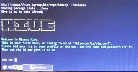 Активация рига в Hive OS