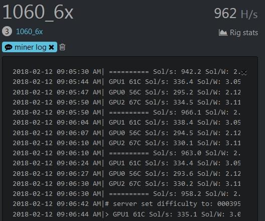 Запрос лога в Hive OS
