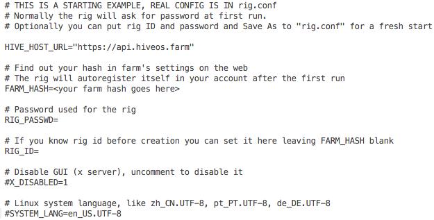 ввод farm hash в hive os